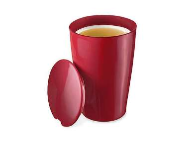 Mug infuseur Teaforté Kati Cranberry Red