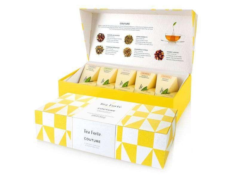 Coffret thé bio Tea Forte 10 pyramides Couture