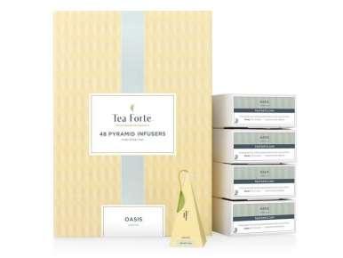 Coffret thé vert Oasis Teaforté 48 pyramides