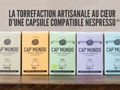 70 Capsules café Cap' Mundo pack découverte pour machine à café Nespresso®