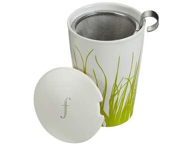 Tasse thé TeaForte Kati Spring Grass avec infuseur