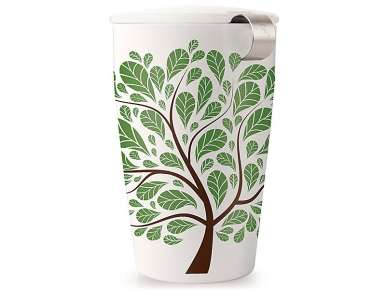 Tea Forte Mug infuseur Kati Green Leaves