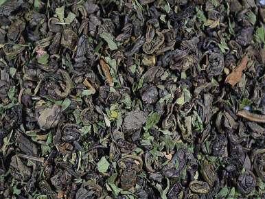 Thé vert aromatisé Chine Gunpowder à la Menthe