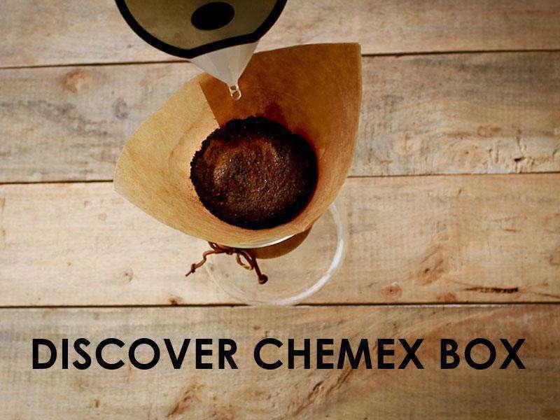 Box café prêt à offrir DISCOVER CHEMEX