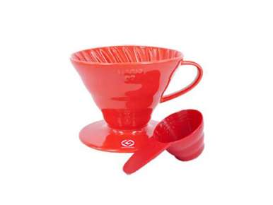 Hario V60 Dripper en céramique rouge 1-4 tasses
