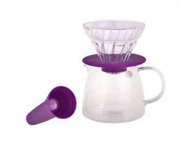 Kit V60 Hario 1-2 tasses violet