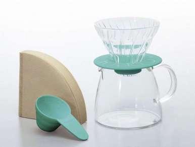 Kit V60 Hario 1-2 tasses turquoise