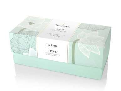 Coffret thé bio Tea Forte 20 pyramides Lotus box