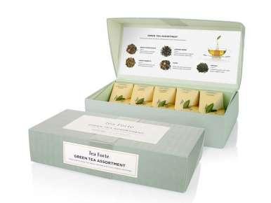 "Prestigious Box 10 green tea pyramids collection ""Essential Greens"""