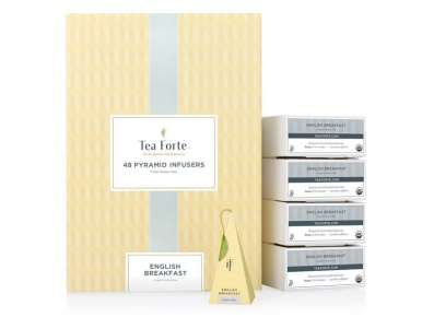 Coffret thé noir bio English Breakfast Teaforté 48 pyramides