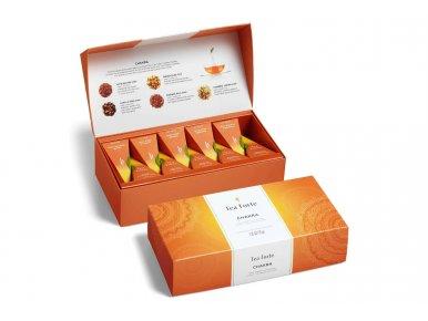 Tea Forté - Coffret Chakra Chai Tea - 10 pyramides Infuseurs - Assemblé à la main