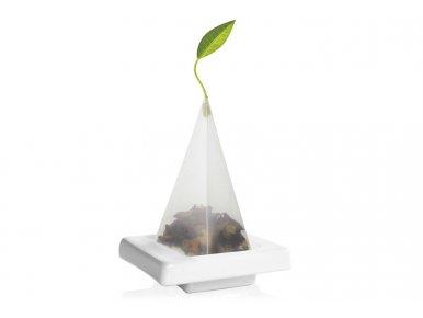 Tea Forté - Lot de 2 mini Plateaux en Céramique pour Pyramide - Blanc
