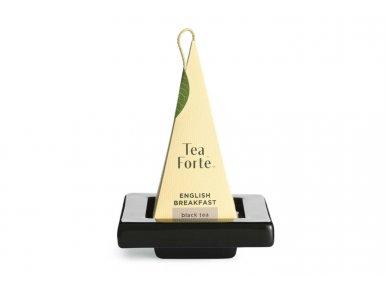 Tea Forté - Lot de 2 mini Plateaux en Céramique pour Pyramide - Noir