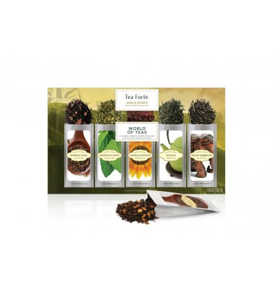 Coffret thé Assortiment Tea Forte 15 pyramides World of Teas