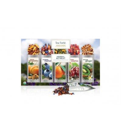 Tea Forté - Coffret de Thé Single Steeps Herbal Retreat - contient 15 Pyramides