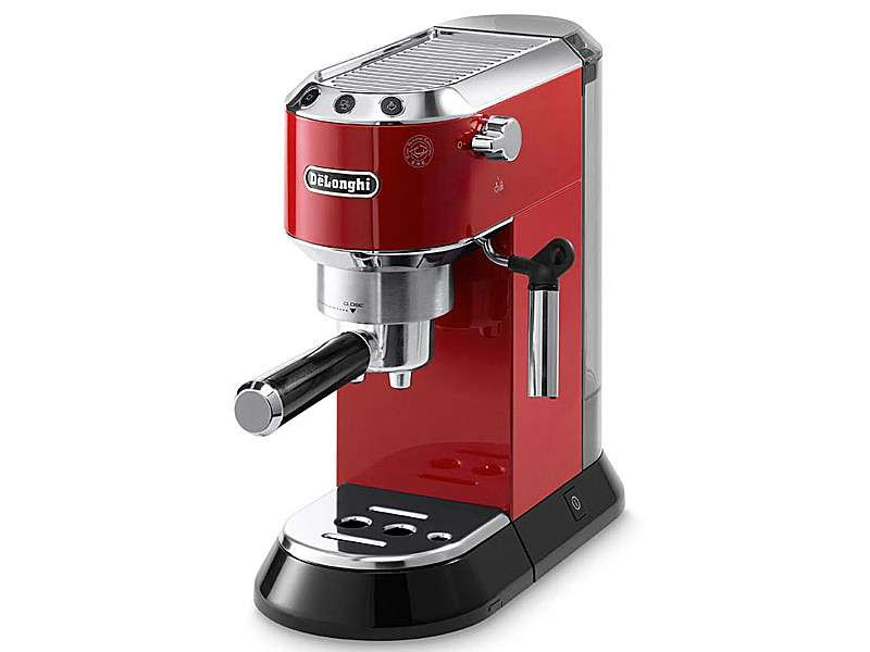 machine expresso manuelle delonghi ec680m m tal couleur rouge flaavor. Black Bedroom Furniture Sets. Home Design Ideas