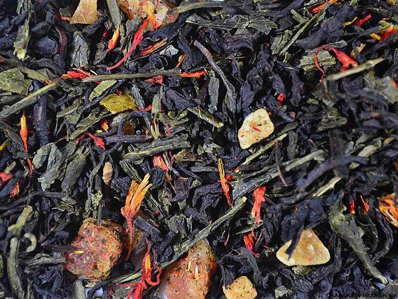 Thé vert aromatisé Un thé aux Maldives (fruits rouges exotiques, pamplemousse)