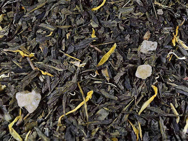 Thé vert aromatisé Mélange Caraïbes Ananas