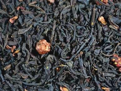 Thé noir aromatisé Rouge Brésil (Fraise des Bois Cerise Groseille, Framboise)