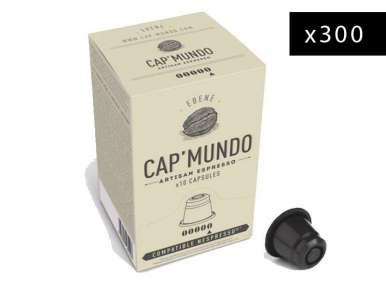 300 capsules café Cap' Mundo Ebène pour machine Nespresso®