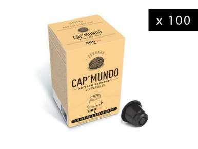 100 capsules café Cap' Mundo Zebrano compatibles Nespresso®