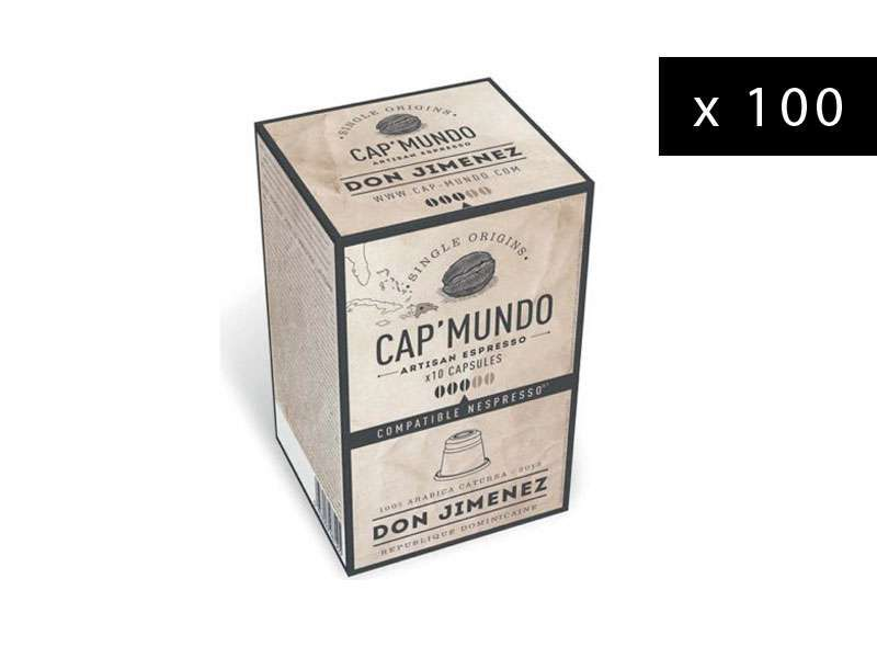 100 capsules café Cap' Mundo Don Jimenez pour compatibles Nespresso®