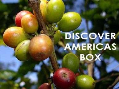 Box café prêt à offrir DISCOVER AMERICAS