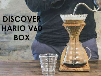 Box café prêt à offrir DISCOVER HARIO V60