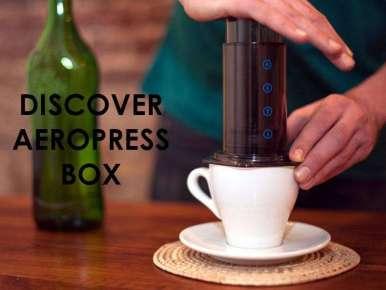 Box café prêt à offrir DISCOVER AEROPRESS